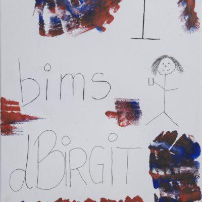 Tobi portraitiert Birgit: Das Werk von Tobi entspricht direkt der aktuellen Antikunst der Vong- Generation. Vong Zeichnungsmotivation her, bimst das Pic 1 nice. Krass am flyn und vong Anschauung her, kann nix 1 Wasser reichen.